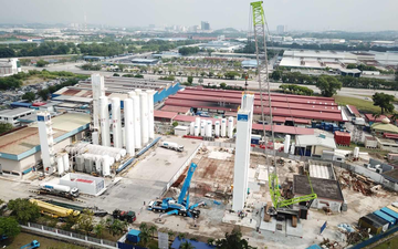 Reconstruction of air separation plant in Malaysia after plant relocation done by the LINDE PLANTSERV® team.