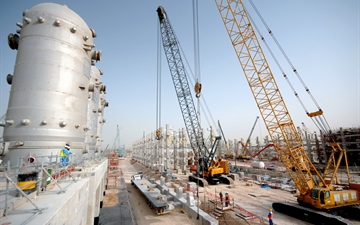 Linde PLANTSERV, revamps, modernisations, Air Separation Plant Pearl GTL in Qatar, Construction site