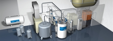 Helium Liquefiers / Helium Recovery Systems / 3D animation picture