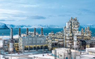Europe's largest LNG plant build by Linde in Hammerfest, northern Norway